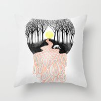 Through Darkness into the Light Throw Pillow