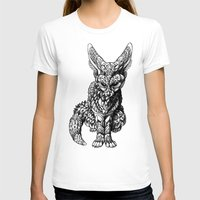 Fennec Fox Womens Fitted Tee White SMALL