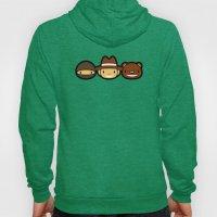 Ninja Cowboy Bear Hoody