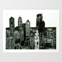 Black And White Philly S… Art Print