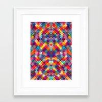 Squares Everywhere Framed Art Print
