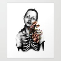 Heartbeats // Illustrati… Art Print