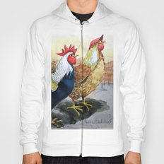 Rooster and Hen Hoody