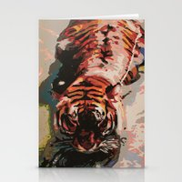 Tiger In The Water Paint… Stationery Cards