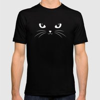 Cute Black Cat Mens Fitted Tee Black SMALL