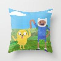 Finn And Jake! Throw Pillow