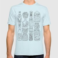 Pickles Print Mens Fitted Tee Light Blue SMALL