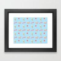 Candy Pattern Framed Art Print