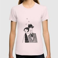 In Love Womens Fitted Tee Light Pink SMALL