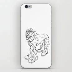Ode to Doggie Boots iPhone & iPod Skin