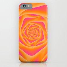 Orange and Pink Rose Spiral Slim Case iPhone 6s
