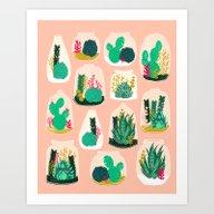 Terrariums - Cute Little… Art Print