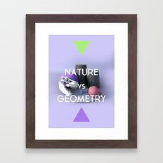 Nature vs Geometry Framed Art Print