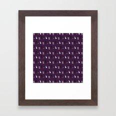 Alice Maddness Pattern Framed Art Print