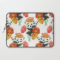 Poppies & Pandas Laptop Sleeve