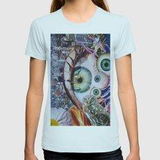 Eye Eye Eye Womens Fitted Tee Light Blue SMALL