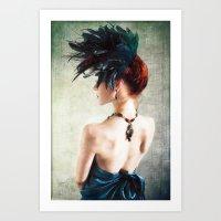 Madame Peacock II Art Print