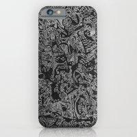 White/Black #3 iPhone 6 Slim Case