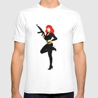 Black Widow Mens Fitted Tee White SMALL