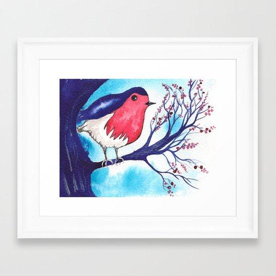 Little Fat Robin Framed Art Print
