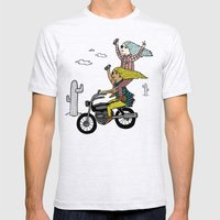 On the freedom experienced by Desert Bike Harpies.   Mens Fitted Tee Ash Grey SMALL