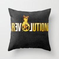 Hunger Games - Revolutio… Throw Pillow