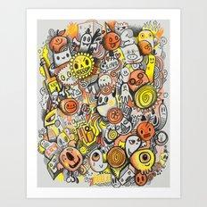 Pencil People Art Print