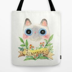 The Siamese Cat Tote Bag