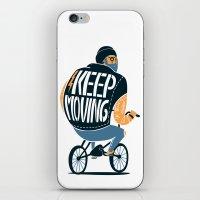 Keep Moving iPhone & iPod Skin