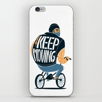 Keep moving iPhone & iPod Skin