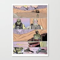 Tatooine Standoff Canvas Print