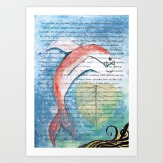 Fish of Far-Sightedness Art Print