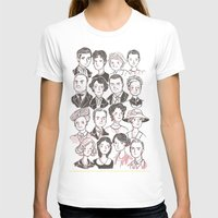 Downton Abbey Womens Fitted Tee White SMALL