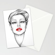 Red Lips Stationery Cards