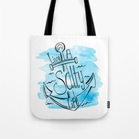 Live A Salty Life - Blue Tote Bag