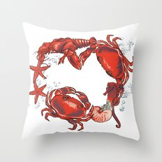 Mer Party Throw Pillow