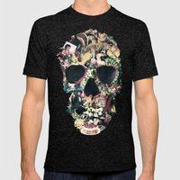 Vintage Skull Mens Fitted Tee Tri-Black SMALL