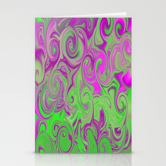 Pink and green  Stationery Card