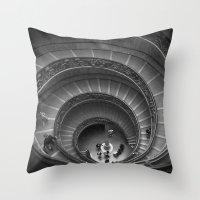 The Spiralling Staircase… Throw Pillow