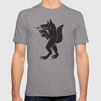 WEREWOLF, MAN WOLF Mens Fitted Tee Athletic Grey SMALL