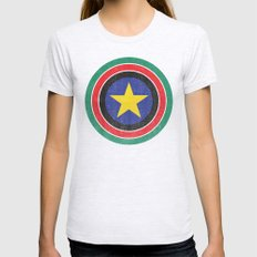 Captain South Sudan 2 Womens Fitted Tee Ash Grey SMALL