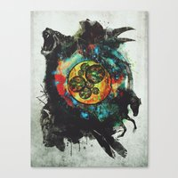 Circle of Life Surreal Study Canvas Print
