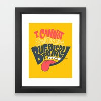 I Can't Sanction Your Bu… Framed Art Print