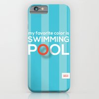 iPhone & iPod Case featuring My favorite color is swimming pool by ColorisBrave