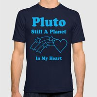 Pluto: Still A Planet In My Heart Mens Fitted Tee Navy SMALL