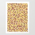 Watercolor Dots_Amber Art Print