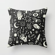 Throw Pillow featuring Witchcraft by LordofMasks