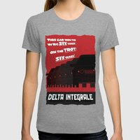 Delta Integrale Womens Fitted Tee Tri-Grey SMALL