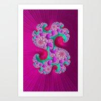 Pink Frenzy Art Print