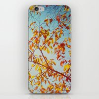 textured leaves. iPhone & iPod Skin
